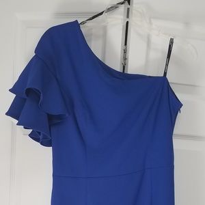 Maggy London One Shoulder Dress Size 12